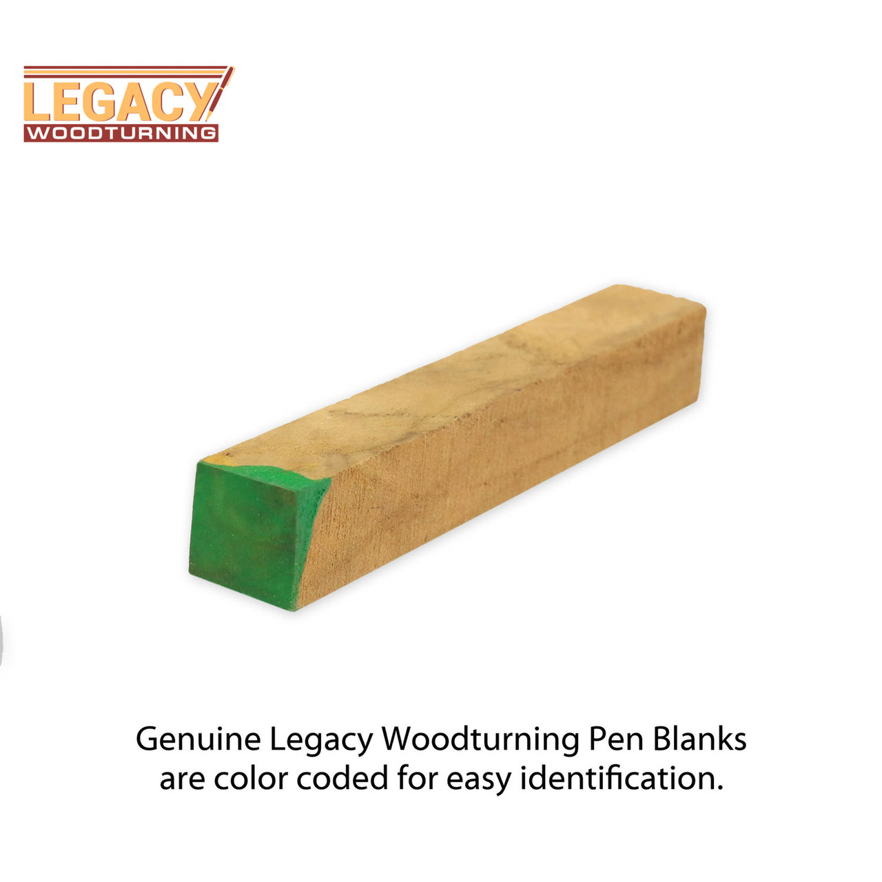 "Legacy Highly Figured Teak Wood Pen Blank, 3/4"" x 3/4"" x 5"""