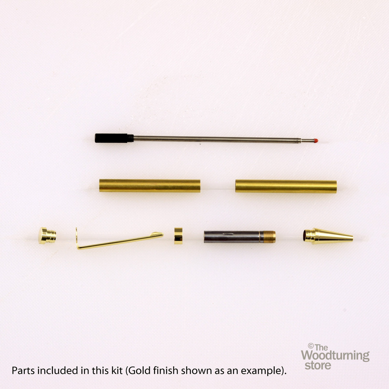 Legacy Slimline Pen Kit - Gold with Black Striped Clip