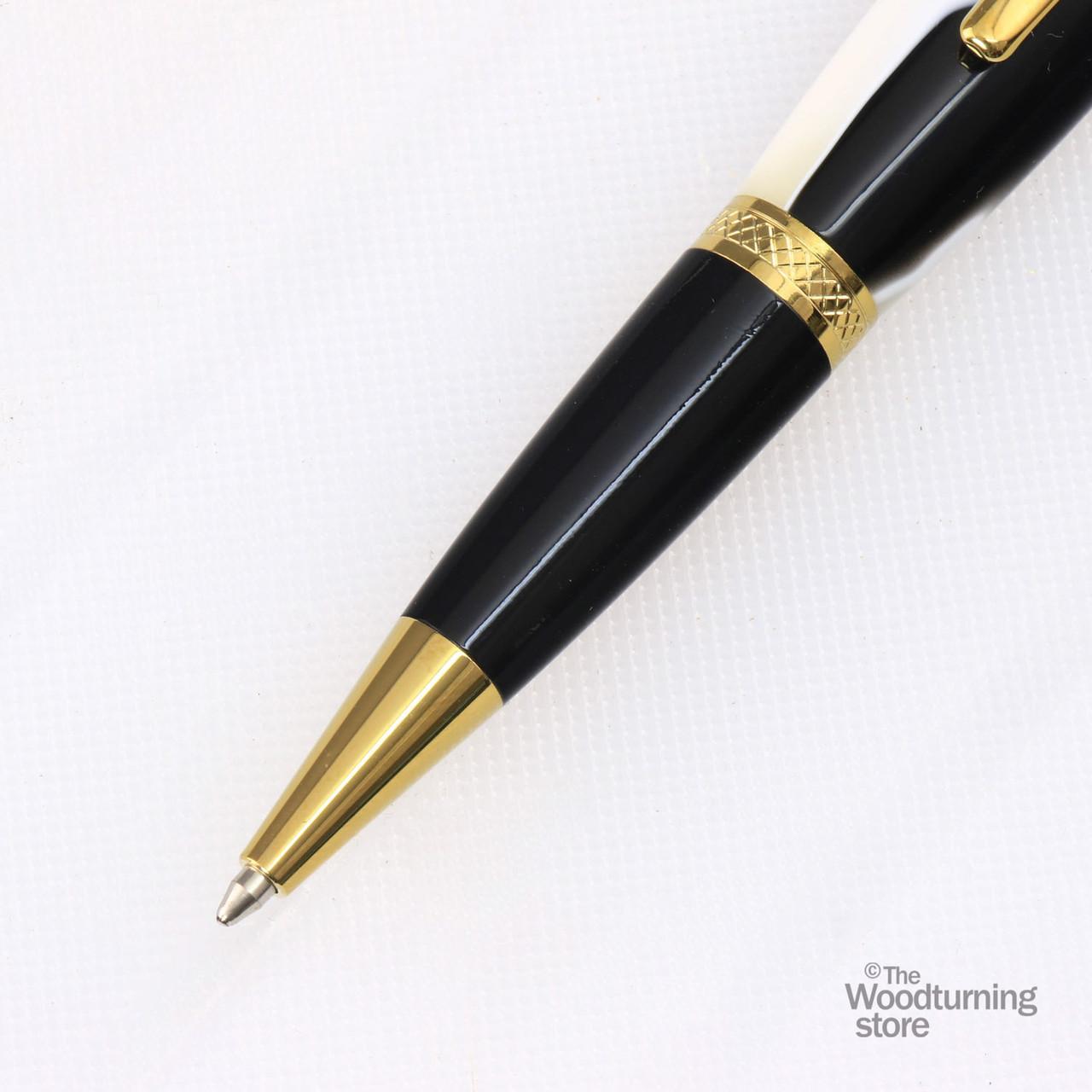 Legacy Viceroy Pen Kit - Titanium Gold / Black Chrome
