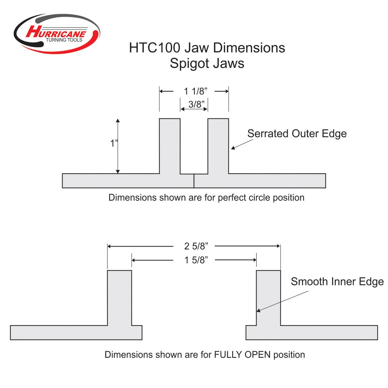 Hurricane Spigot Jaws for the HTC100 Chuck