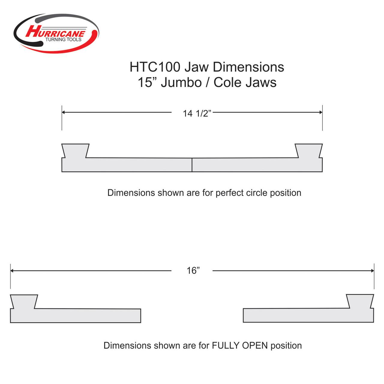 "Hurricane 15"" Convertible Jumbo / Cole Chuck Jaw Kit for the HTC100 Chuck"