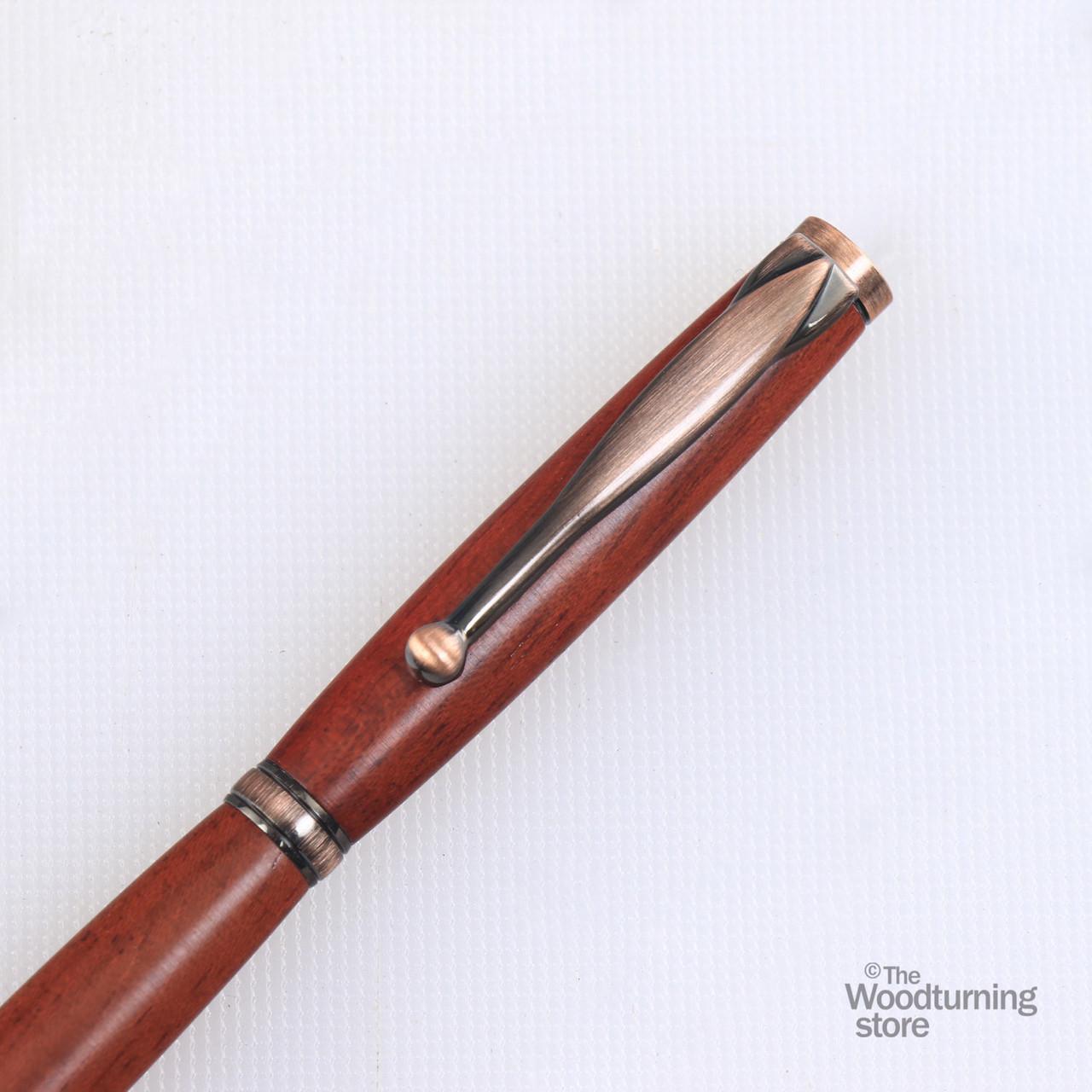 Antique Bronze polish x 5 Woodturning Pen Kits Slimline Fancy