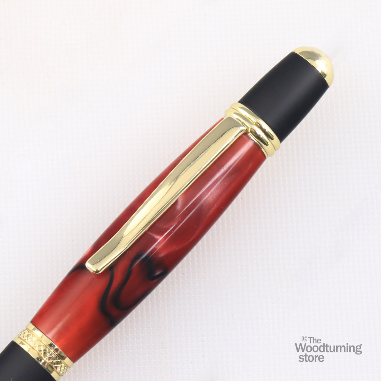 Legacy Viceroy Pen Kit - Gold and Matte Black Chrome