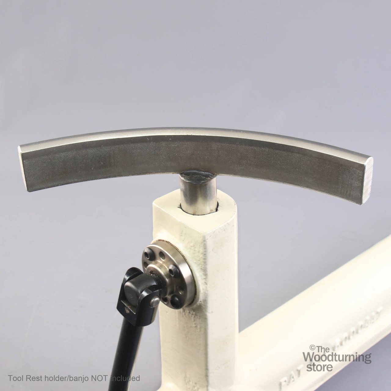 """Oneway Curved Toolrest, 1"""" Post, Exterior, Short Post"""