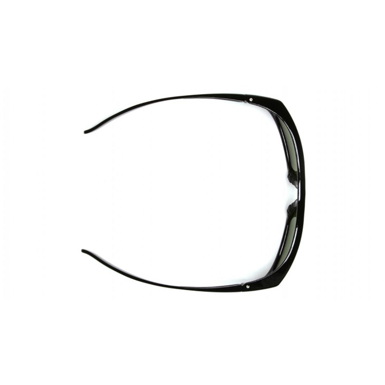 Pyramex Emerge Series Safety Glasses with Clear Lens and Black Frame