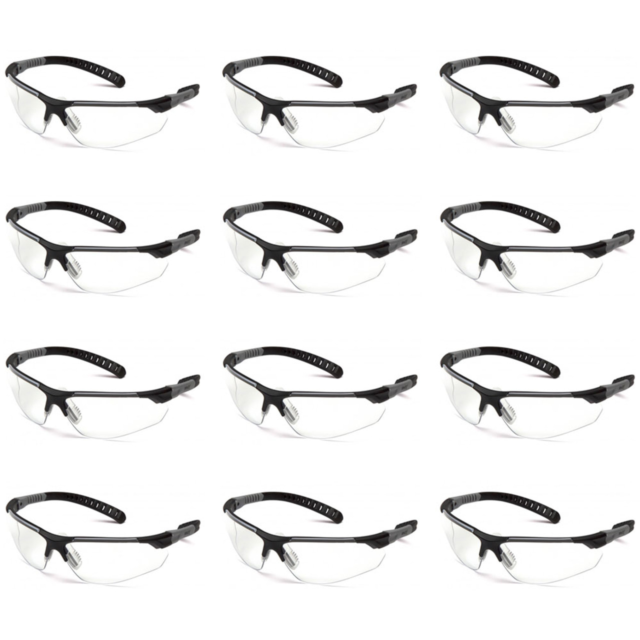 Pyramex Sitecore Series Safety Glasses with Clear Lens, 12 Pack