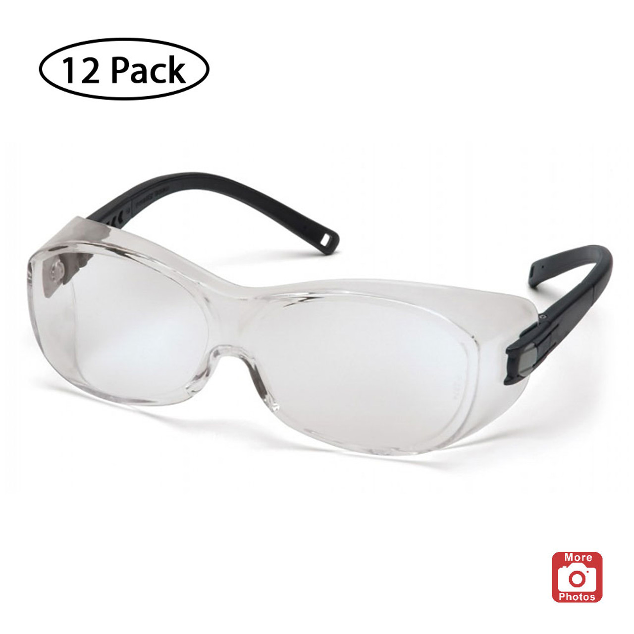Pyramex OTS Series Safety Glasses with H2X Anti-Fog Lens, 12 Pack