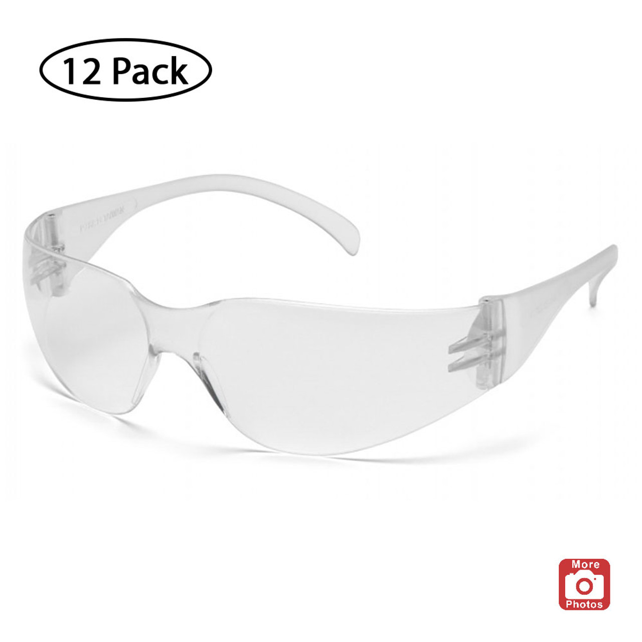 Pyramex Intruder Series Safety Glasses with Hardcoated Anti-fog Lens