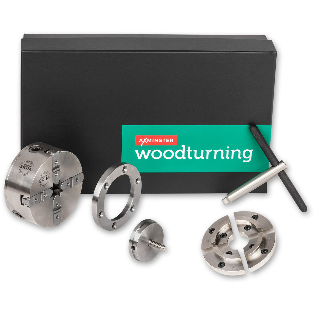 """Axminster Evolution SK114 Woodturning Chuck Package - 1.1/4"""" x 8 TPI"""