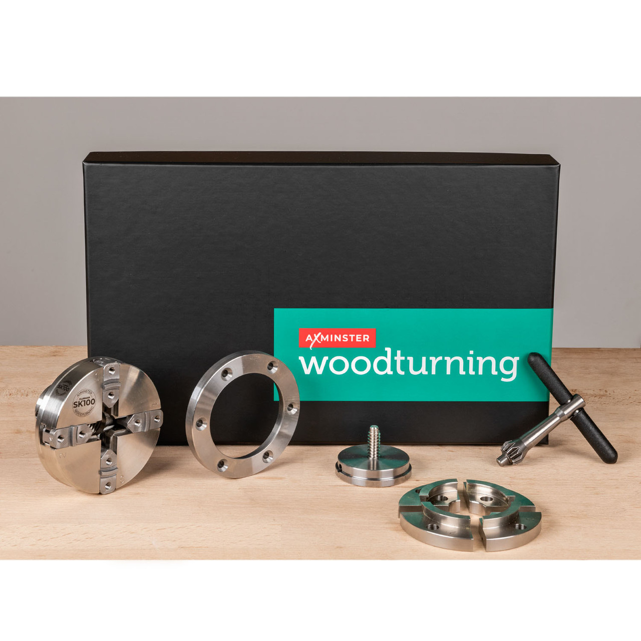 """Axminster Clubman SK100 Woodturning Chuck Package - 1"""" x 8 TPI"""