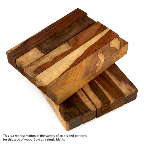 "Legacy Cocobolo Wood Pen Blank, Multi-Toned, 3/4"" x 3/4"" x 5"""