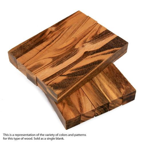 """Legacy Goncalo Alves / Tigerwood Ebony Wood Pen Blank, 3/4"""" x 3/4"""" x 5"""""""