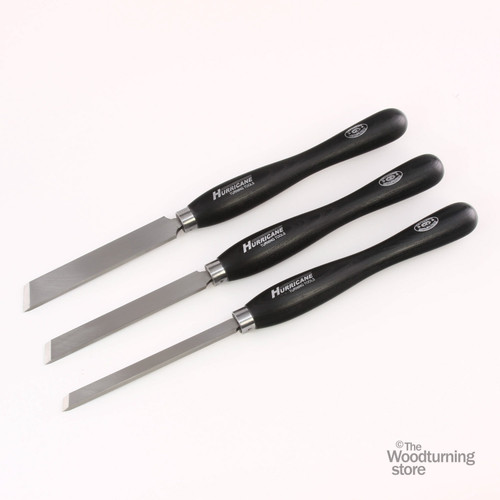 """Hurricane, M2 Cryo, 3 Piece Skew Chisel Pro Tool Set (1"""", 3/4"""" and 1/2"""" Wide)"""