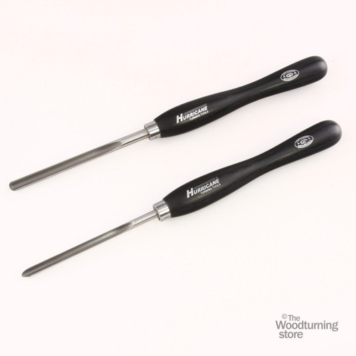 "Hurricane M2 Cryo, 2 Piece Spindle Gouge Pro Tool Set (1/2"" and 3/8"" Flute)"