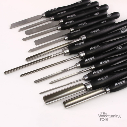 Hurricane M2 Cryo, 14 Piece Master Set of Pro Woodturning Tools
