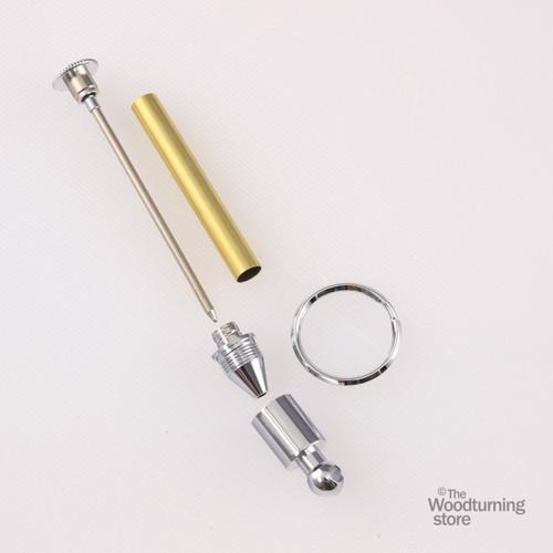 Legacy Portable Key Chain Pen Kit - Chrome
