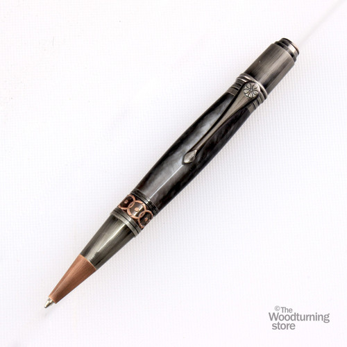 Legacy Da Vinci Twist Pen Kit - Antique Rose Copper and Gun-Polish