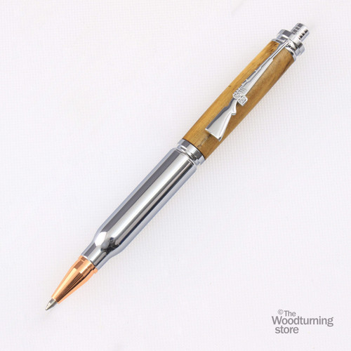 Legacy Bullet Click Pen Kit - Chrome with Copper
