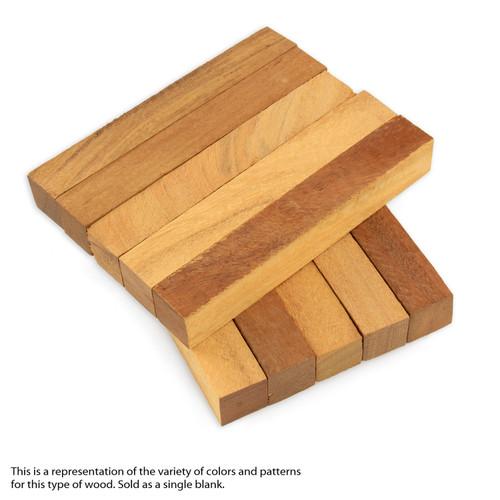 "Legacy Yellowheart Wood Pen Blank, 3/4"" x 3/4"" x 5"""