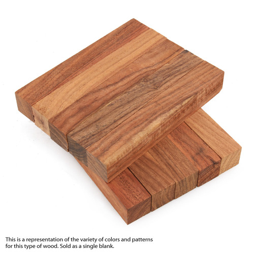 "Legacy Granadillo / Macawood Wood Pen Blank, 3/4"" x 3/4"" x 5"""