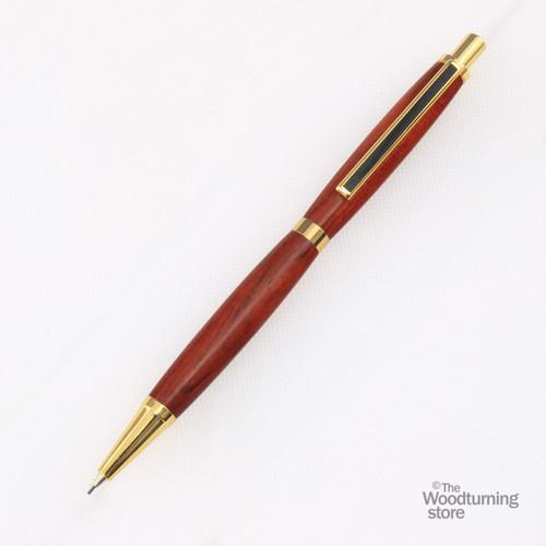 Legacy Slimline Pencil Kit - Gold with Black Striped Clip