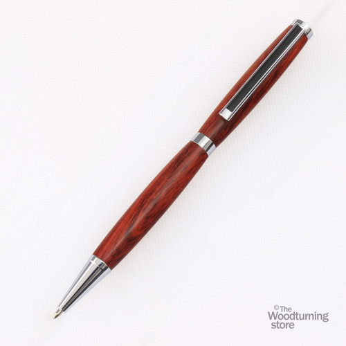 Legacy Slimline Pen Kit - Chrome with Black Striped Clip