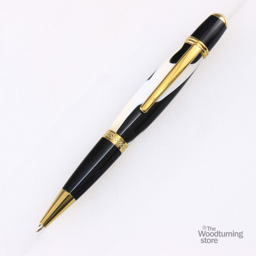 Legacy Viceroy Pen Kit - Titanium Gold / Black Chrome