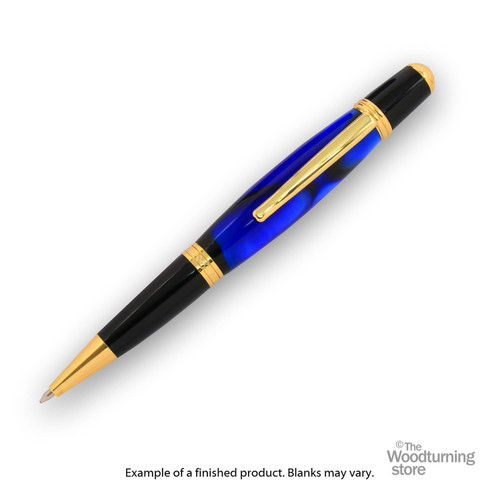 Finished Pen Blank for Legacy Viceroy Pen Kits, Dark Blue and Black with Pearl