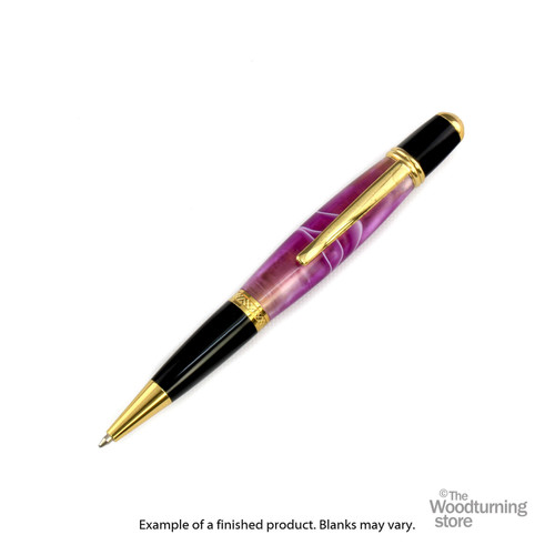Finished Pen Blank for Legacy Viceroy Pen Kits, Deep Purple with Pearl