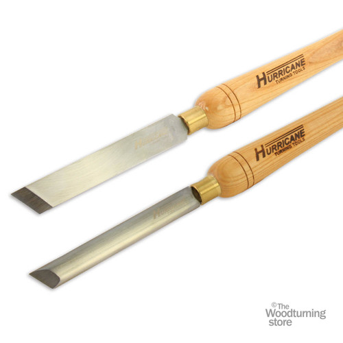 "Hurricane HSS, 2 Piece Skew Chisel Tool Set (3/4"" and 1"" Wide)"