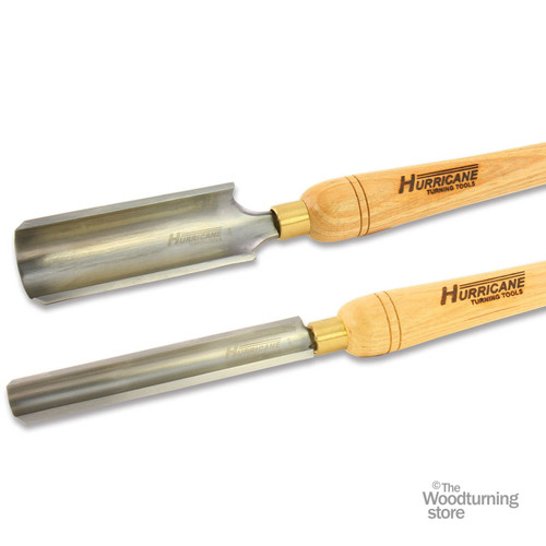 "Hurricane HSS, 2 Piece Spindle Roughing Gouge Tool Set (1"" and 2"" Flute)"