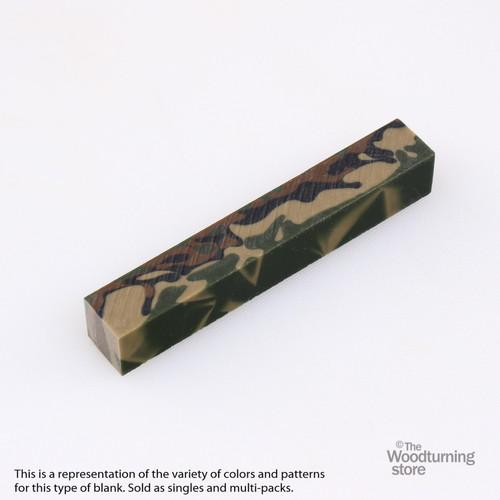 Legacy Acrylic Pen Blank - Woodland Camo, Single Blank