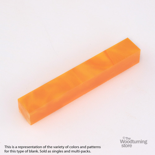 Legacy Acrylic Pen Blank - Orange Pearl, Single Blank