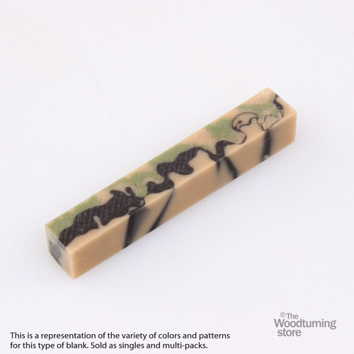 Legacy Acrylic Pen Blank - Desert Camo, Single Blank