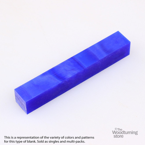 Legacy Acrylic Pen Blank - Blue Pearl, Single Blank