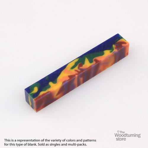 Legacy Acrylic Pen Blank - MultiColor Camo, Single Blank