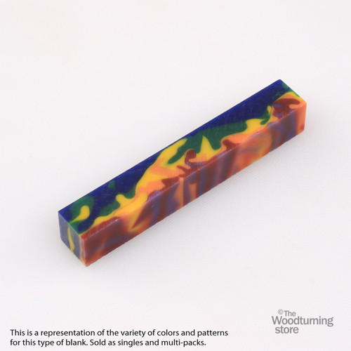 Legacy Acrylic Pen Blank - MultiColor Camo, Single Blank