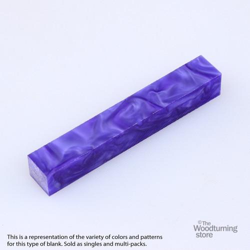 Legacy Acrylic Pen Blank - Indigo Pearl, Single Blank