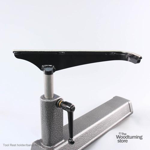 "Robust J-Curved Tool Rest, 14"" Wide, Standard Post"