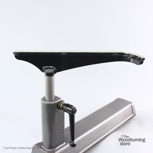 """Robust J-Curved Tool Rest, 14"""" Wide, Long Post"""