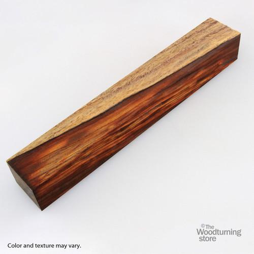 "Legacy Cocobolo Wood Turning Blank, Multi-Toned, 2"" x 2"" x 12"""