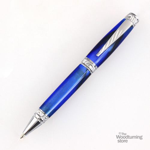 Legacy Fat Cat Pen Kit - Satin Chrome
