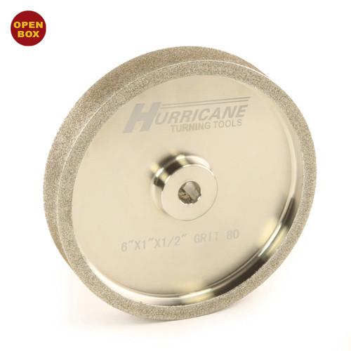 "Hurricane CBN Grinding Wheel, 6"" x 1"" x .5"", 80 Grit B Stock"