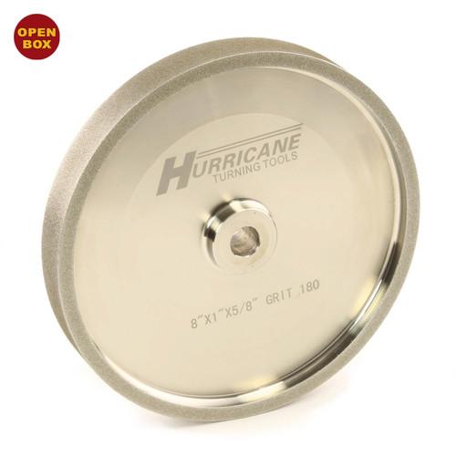 "Hurricane Tools - CBN Grinding Wheel - 8""x1""x.625"" - 180 Grit with Shim Kit B Stock"
