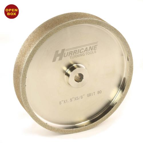 "Hurricane Tools - CBN Grinding Wheel - 8""x1.5""x.625"" - 80 Grit with Shim Kit B Stock"