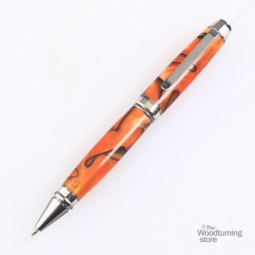 Legacy Cigar Pen Kit -Black Titanium with Platinum