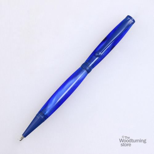 Legacy Fancy Pen Kit - Blue Enamel