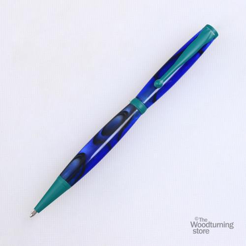 Legacy Fancy Pen Kit - Green Enamel