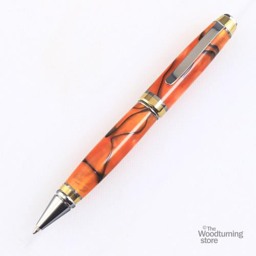 Legacy Cigar Pen Kit - Black Titanium with Titanium Gold