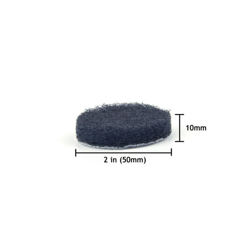 "Hurricane 2"" Hook and Loop Fine Scouring Pad, 1000 Grit"